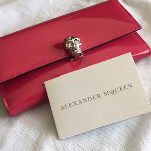 NEW Alexander McQueen Continent Patented Wallet